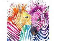 Colour My Zebra Photo From Life With Paint Gold Coast Fb Page